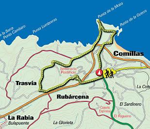 Itinéraire 1: Comillas côtière et historique