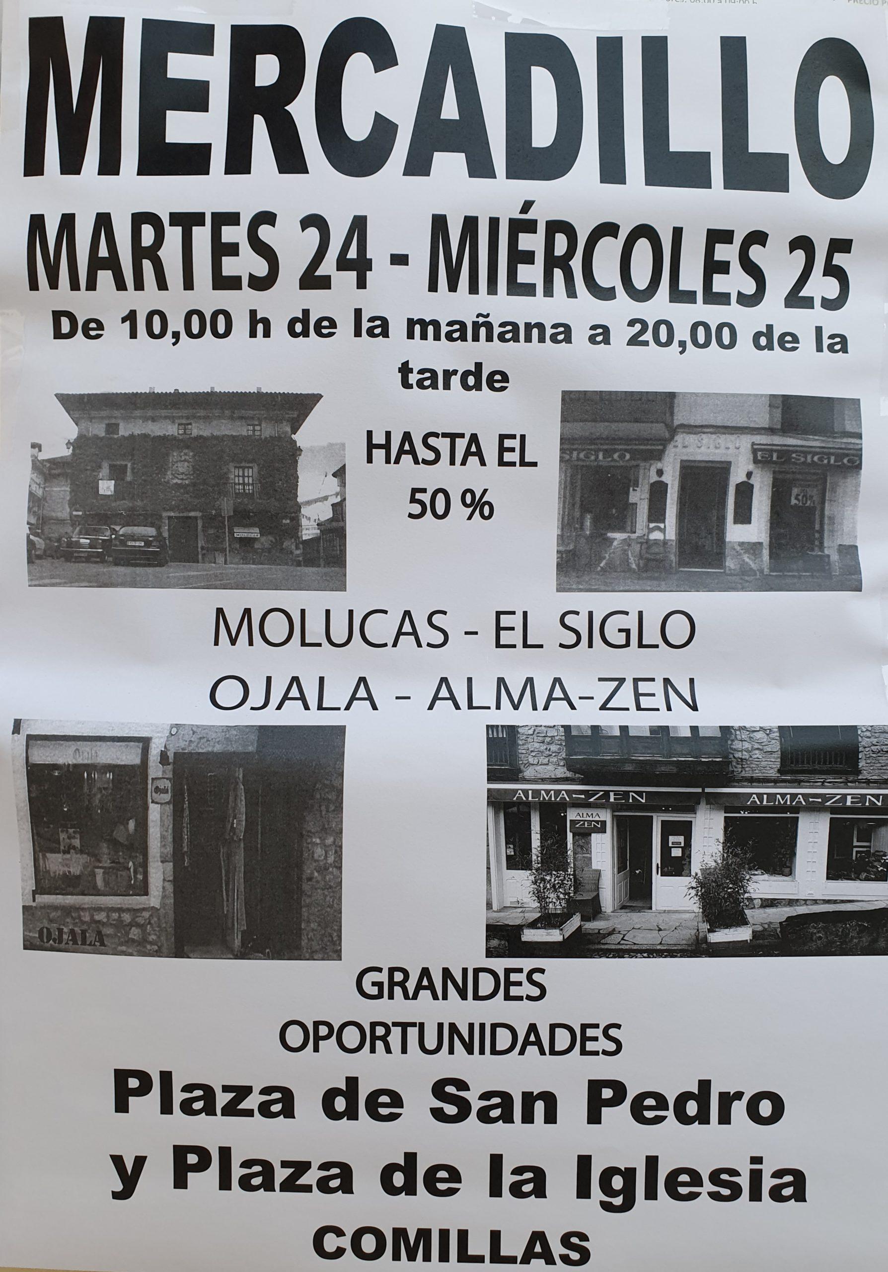 MERCADILLO: MOLUCAS · EL SIGLO · OJALA · ALMA-ZEN