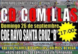 """Partido de fútbol: CD COMILLAS – CDE RAYO SANTA CRUZ """"B"""""""