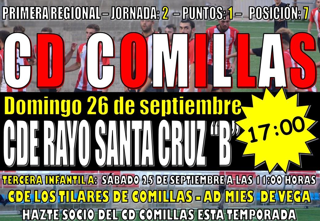 Partido de fútbol: CD COMILLAS – CDE RAYO SANTA CRUZ «B»