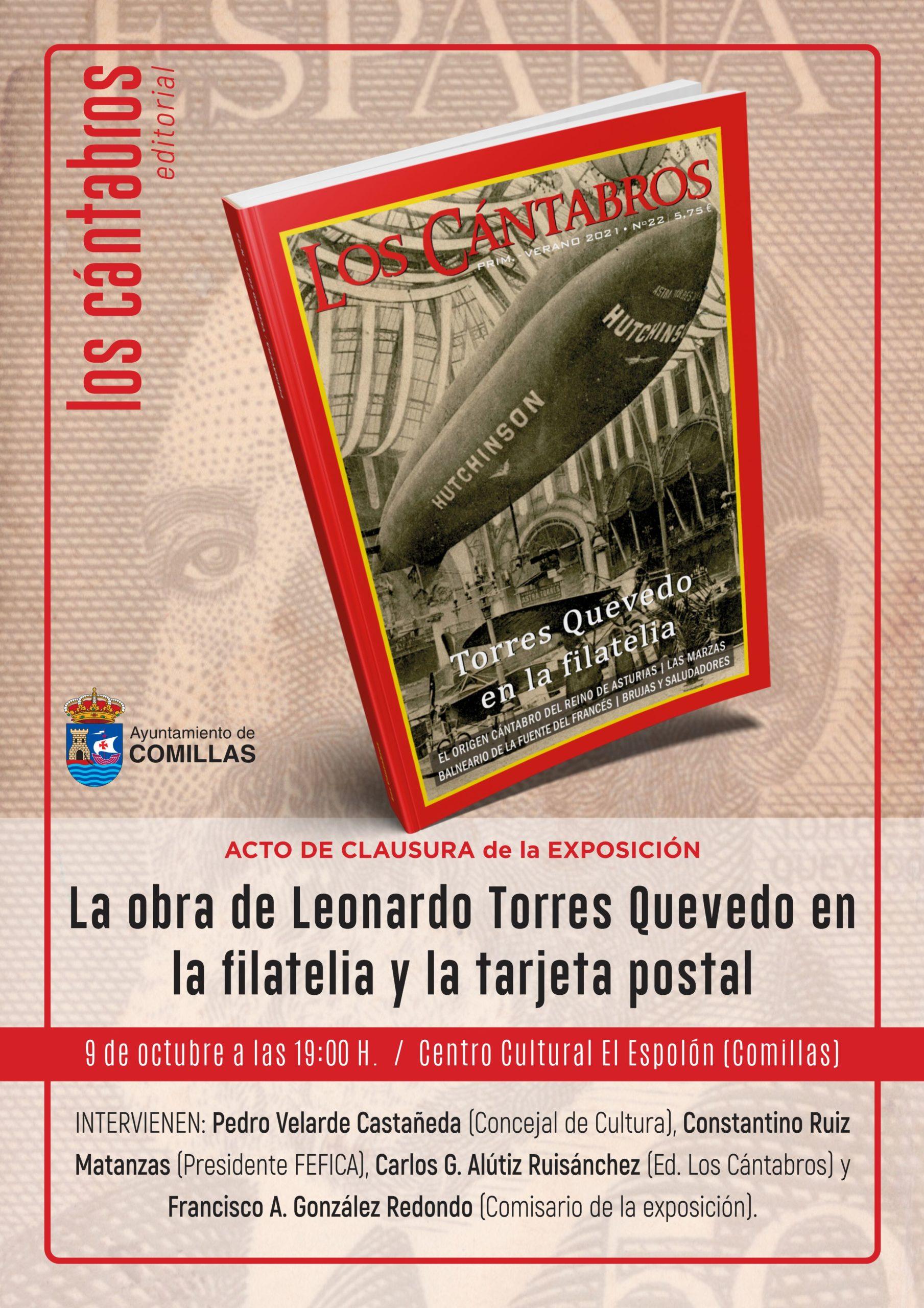 Clausura de la exposición LA OBRA DE LEONARDO TORRES QUEVEDO EN LA FILATELIA Y LA TARJETA POSTAL